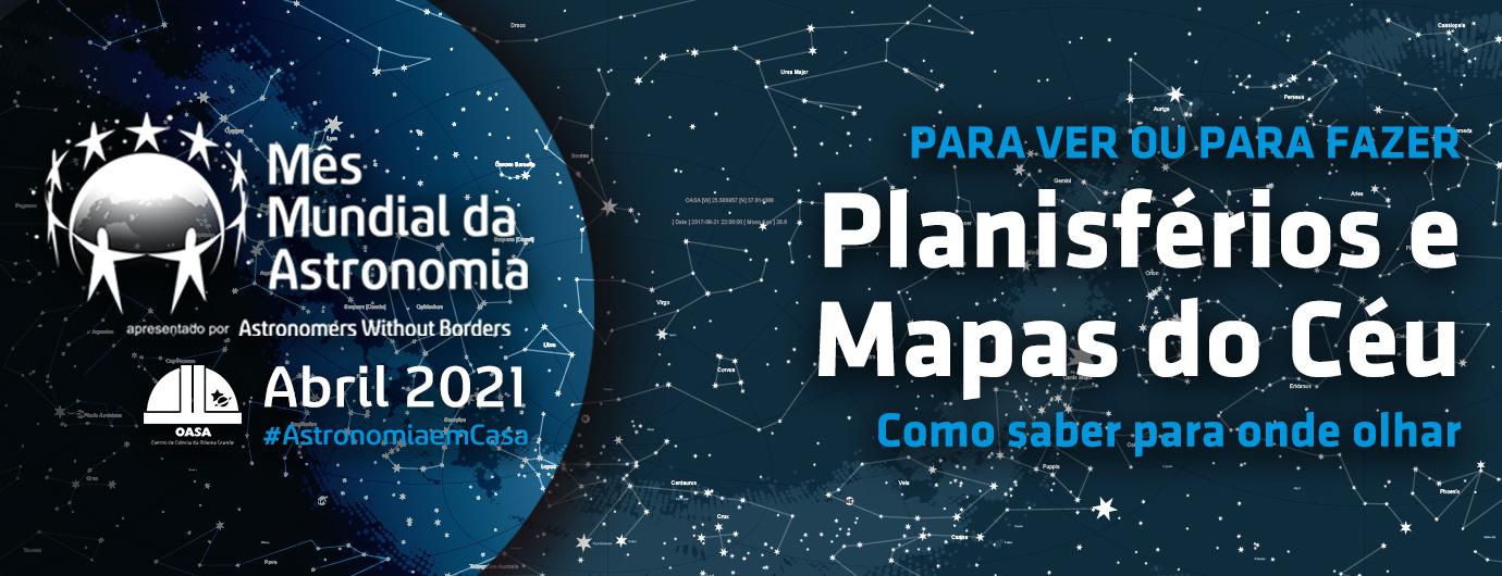 Planisférios e mapas do céu
