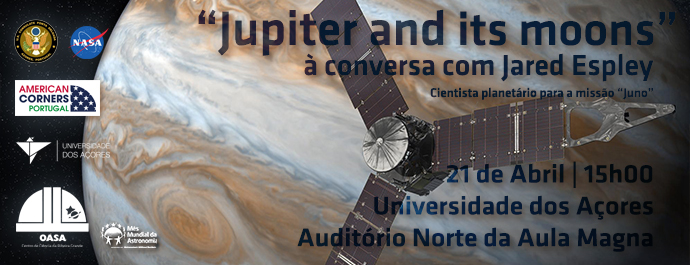 Palestra   Exploring Jupiter and its Moons   Jared Espley   NASA   OASA   Mês Mundial da Astronomia