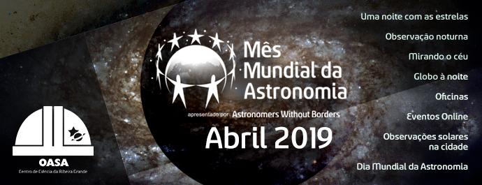 Mês Mundial da Astronomia 2019 | OASA