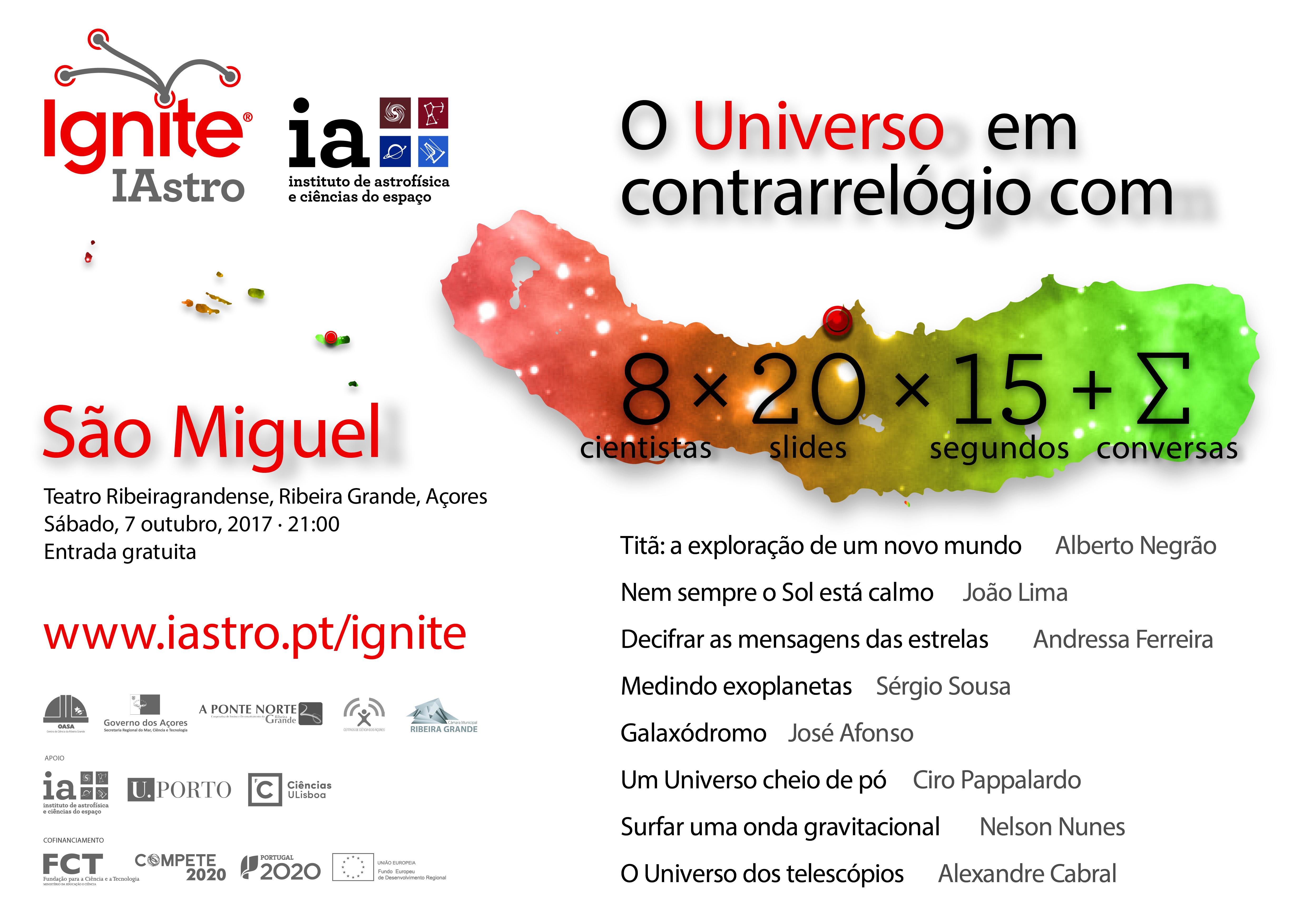 Ignite IAstro Açores | 7 de Outubro | Teatro Ribeiragrandense
