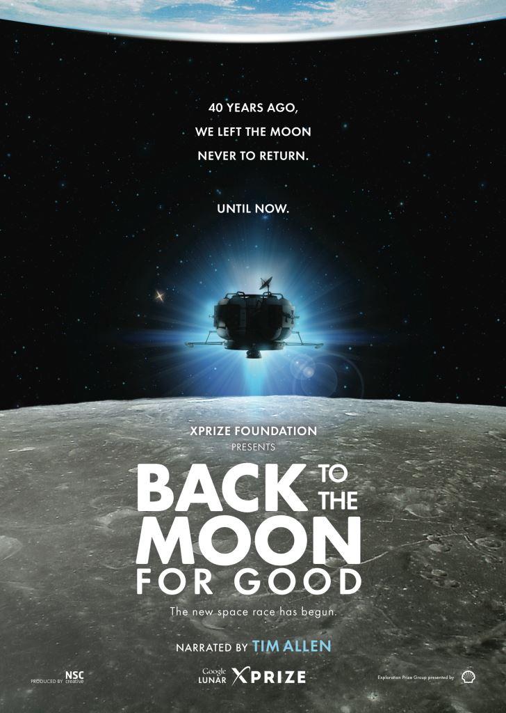 De Volta à Lua   Back to the Moon For Good - Tim Allen - Filme Planetário - OASA Cartaz