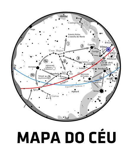 Carregue para fazer download do Mapa do Céu deste mês